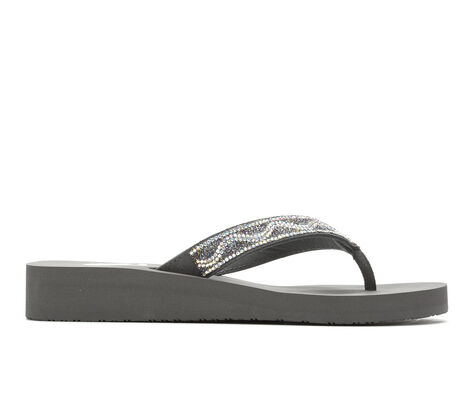 Women's Yellow Box Wilcox Wedge Flip-Flops