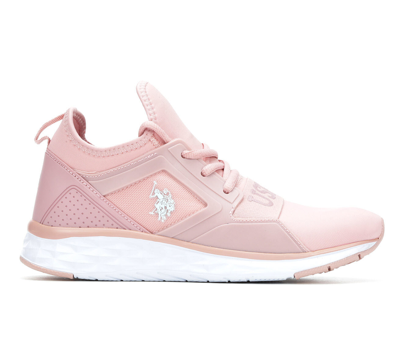 Quite Cool Women's US Polo Assn Jace Sneakers Blush/White