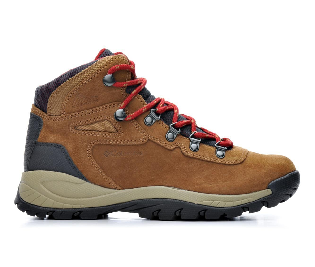 Women's Columbia Newton Ridge Plus WP Amped Hiking Boots Elk/Red