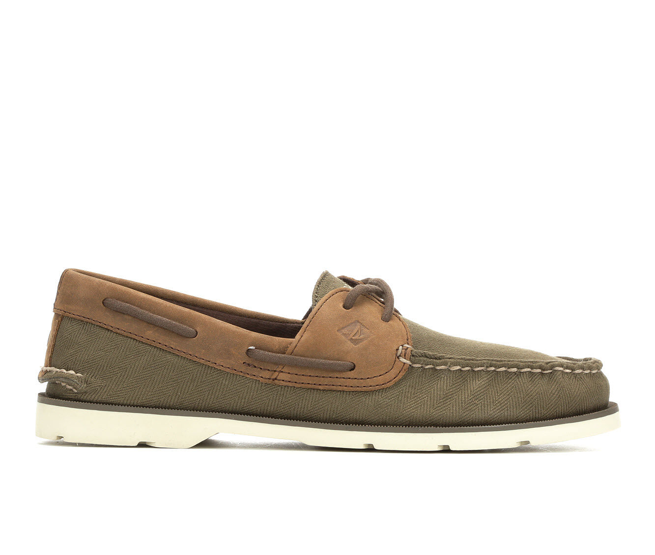 new fashion style Men's Sperry Leeward 2 Eye Boat Shoes Olive/Brown