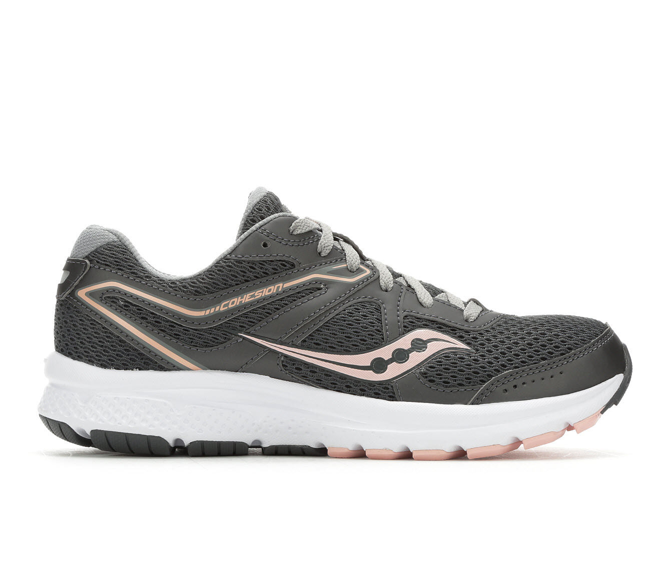 choose comfortable Women's Saucony Cohesion 11 Running Shoes Charcoal/Peach