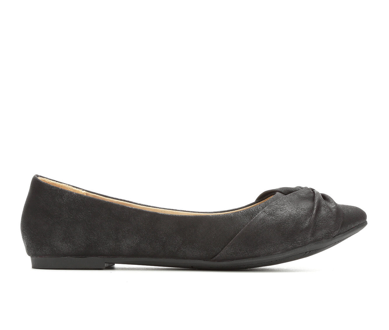 Women's Jellypop Jacquee Flats Black Distress