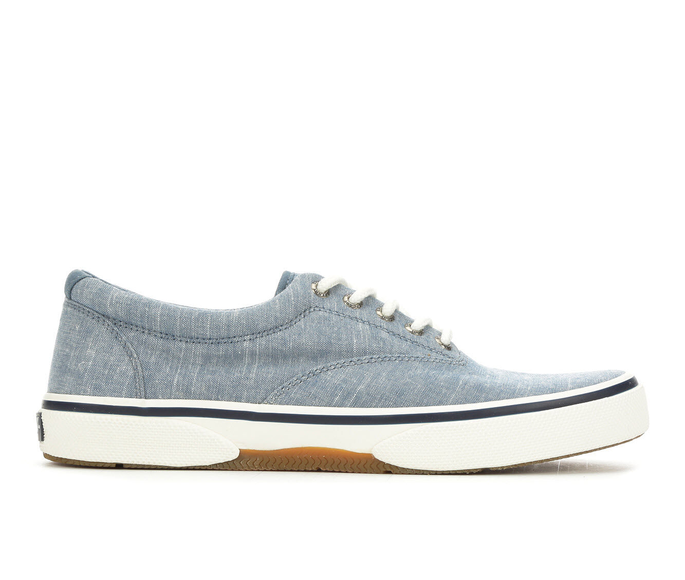 Men's Sperry Halyard Laceless Casual Shoes Navy Chambray