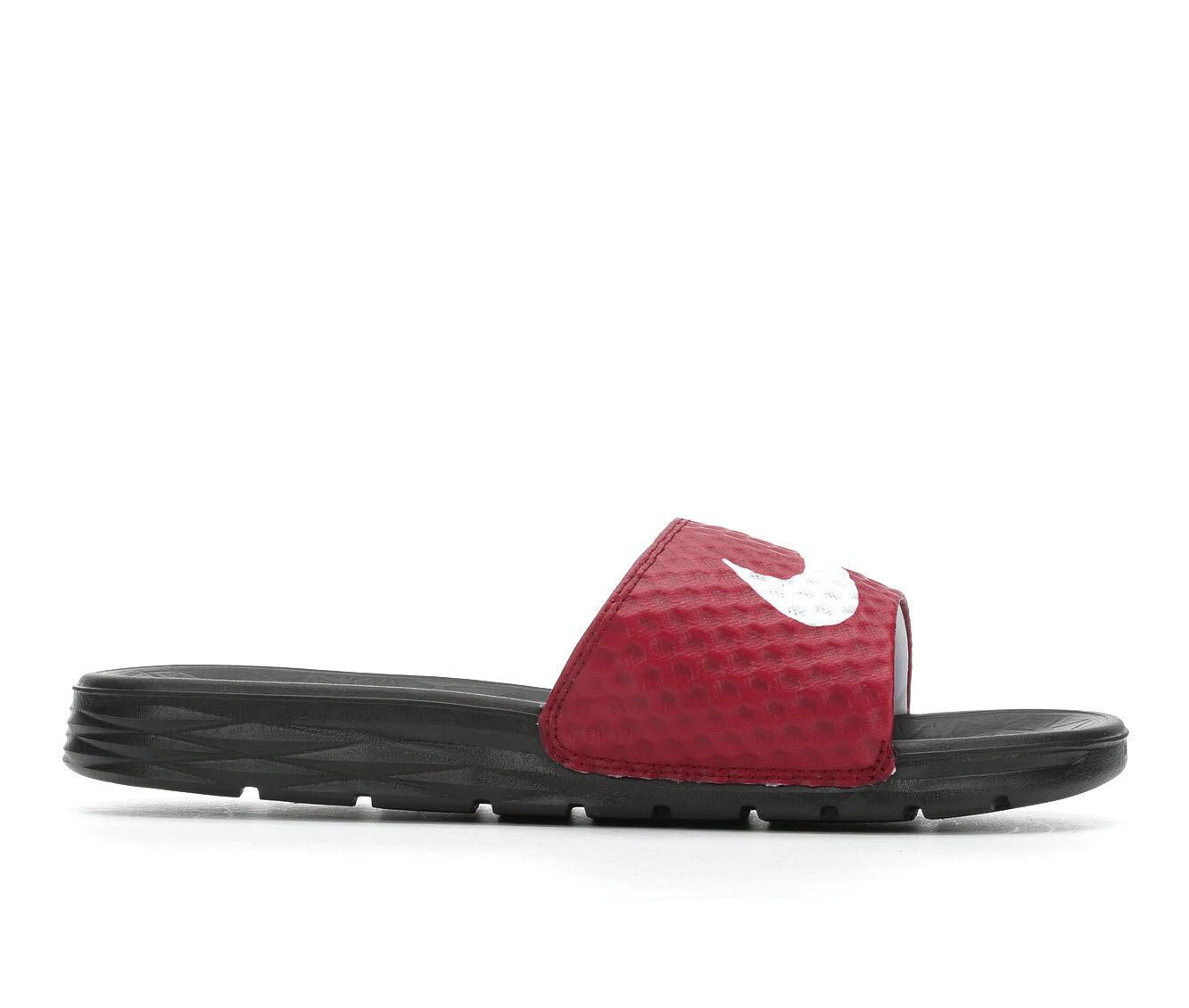 Designer Men's Nike Benassi Solarsoft Slide 2 Sport Slides TeamRed/Wht/Blk