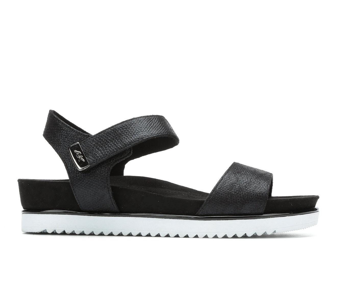Quite Brilliant Women's Anne Klein Sport Lela Flatform Sandals Black