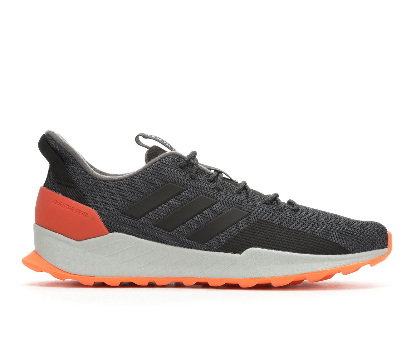 Men's Adidas Questar Trail Running Shoes Gry/Blk/Org