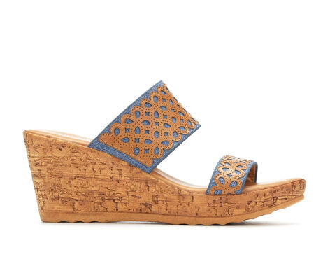 Women's Italian Shoemakers Arden Cork Wedge Sandals