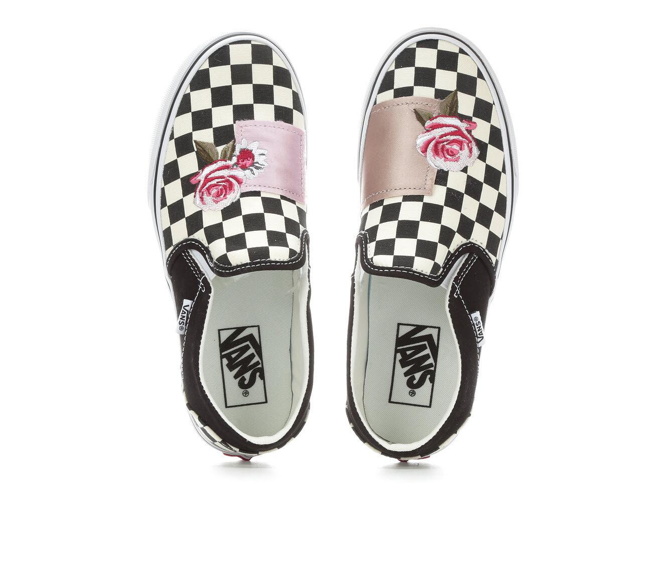 Order Online Women's Vans Asher Patchwork Skate Shoes Black/Floral