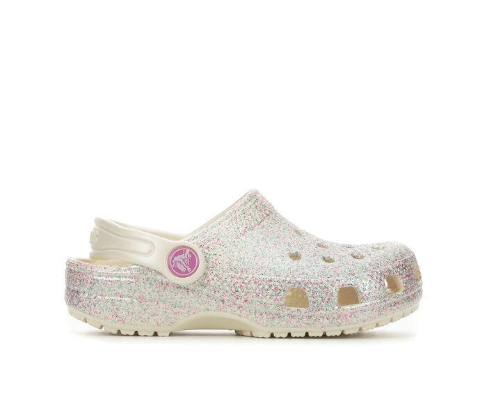 Girls' Crocs Toddler Classic Glitter Clogs