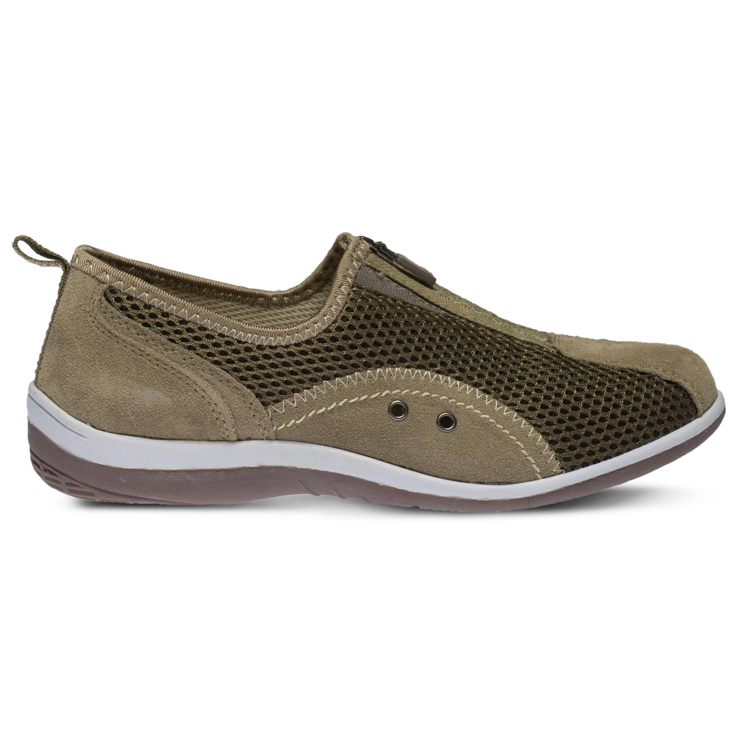 Women's SPRING STEP Racer Slip-Ons Taupe