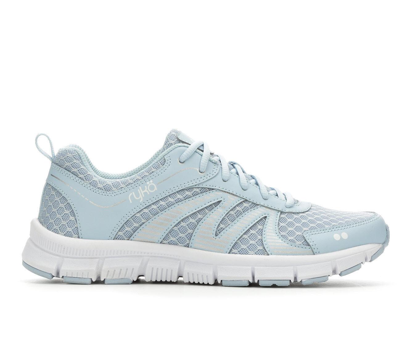 Women's Ryka Heather Training Shoes Soft Blue/White