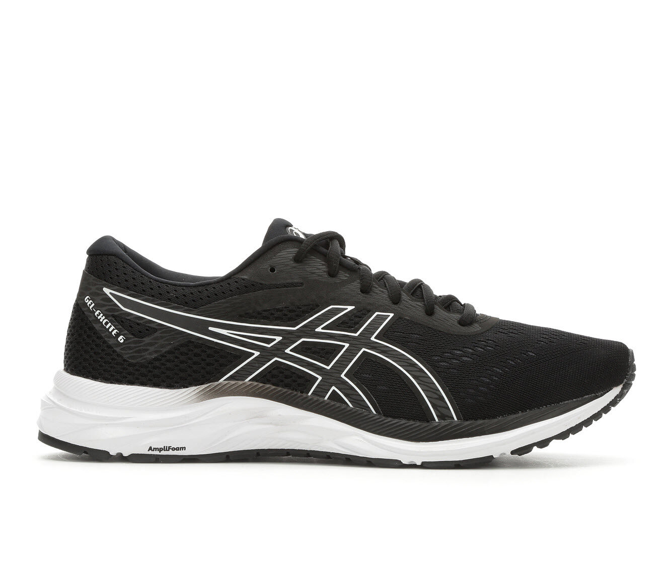 Men's ASICS Gel Excite 6 Running Shoes Blk/Wht/Gry