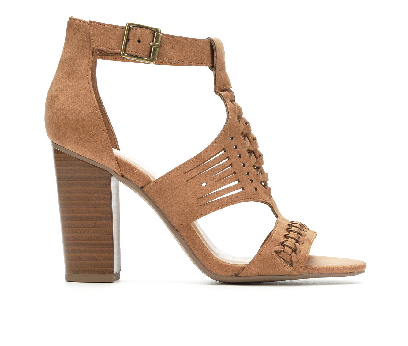 Women's Y-Not Beatrice Heeled Sandals Cognac