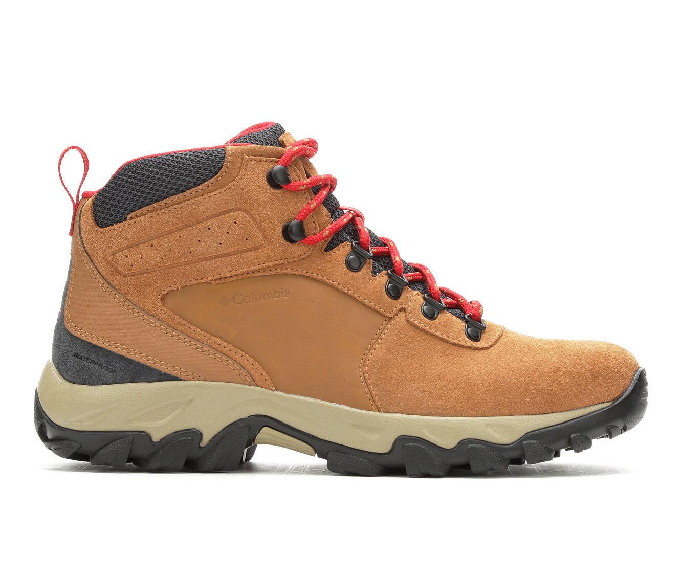 Men's Columbia Newton Ridge Plus II Waterproof Hiking Boots Elk/Mount Red