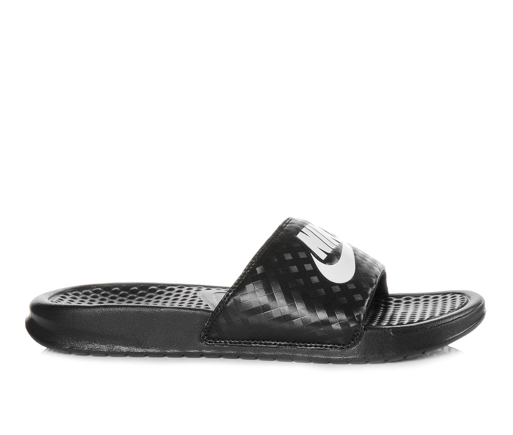 Women's Nike Benassi JDI Slide Sandals Black/White