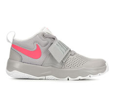 Girls' Nike Team Hustle D8 10.5-3 High Top Basketball Shoes