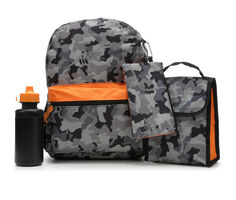 Accessory Innovations Backpack Lunch Box Combo 5 Piece Set