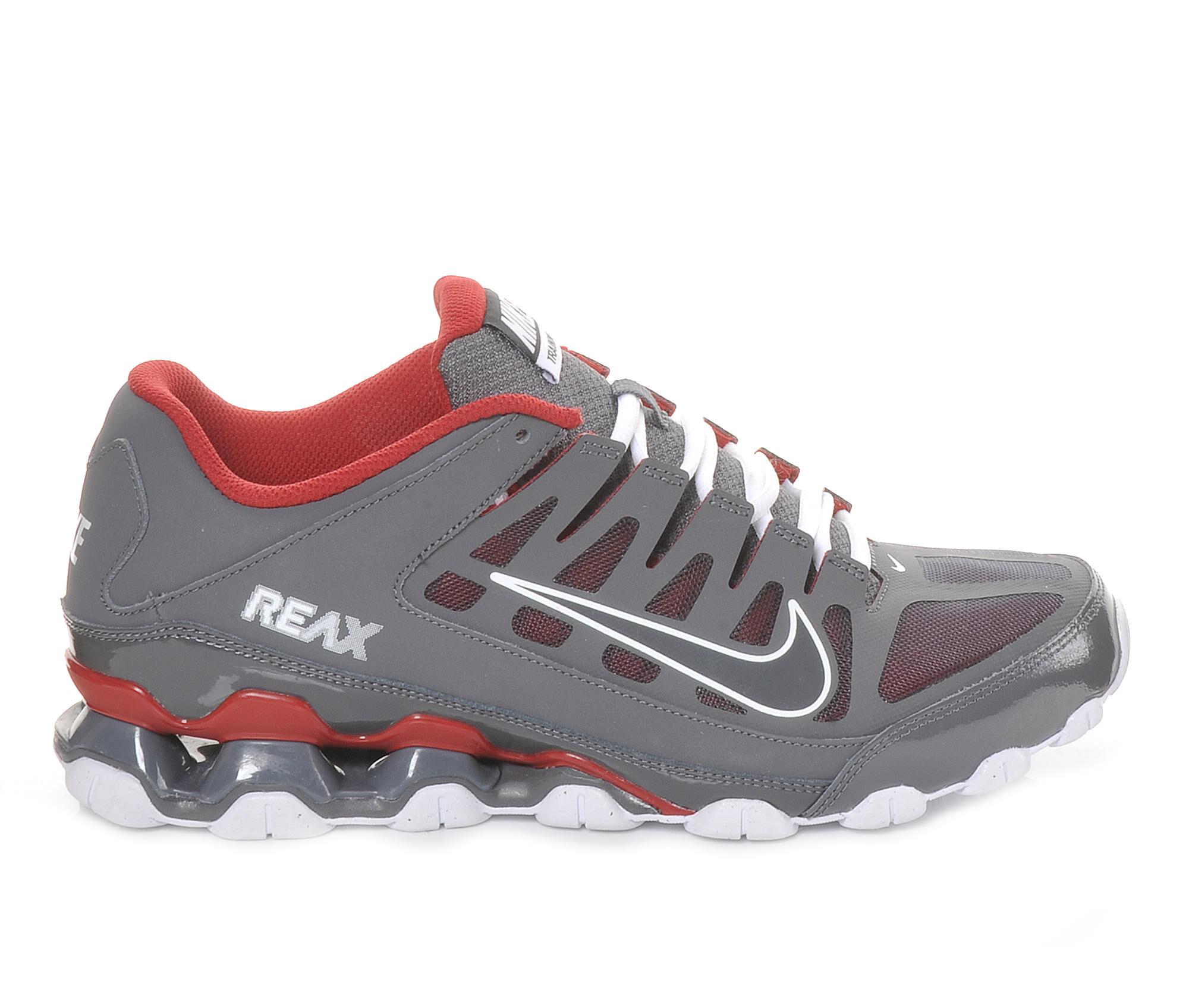 Men's Nike Reax 8 TR Mesh Training Shoes Grey/Red/White