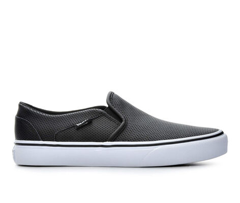 Women's Vans Asher Leather Slip-On Skate Shoes