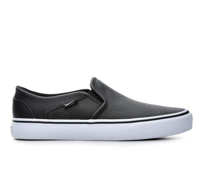Women's Vans Asher Leather Slip-On Skate Shoes