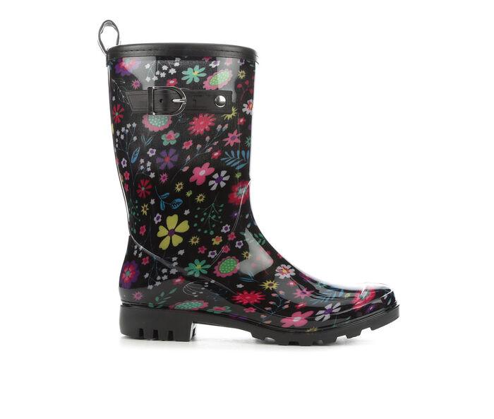 Women's Capelli New York Fun Floral Jelly Rain Boots