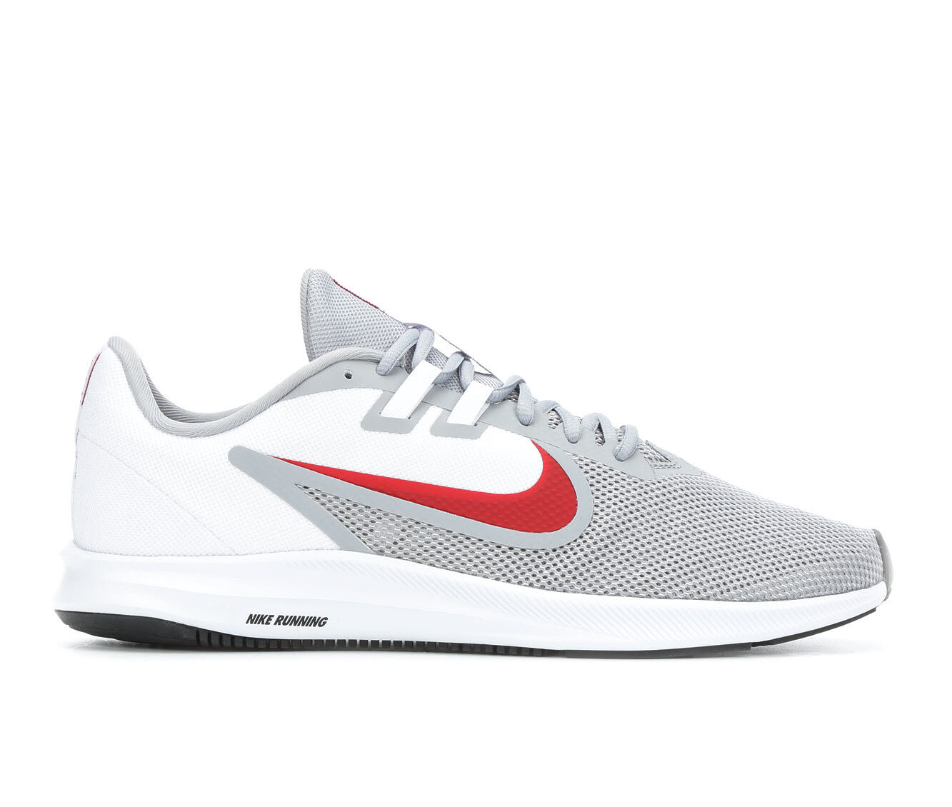 summer season Men's Nike Downshifter 9 Running Shoes Gry/Wht/Red