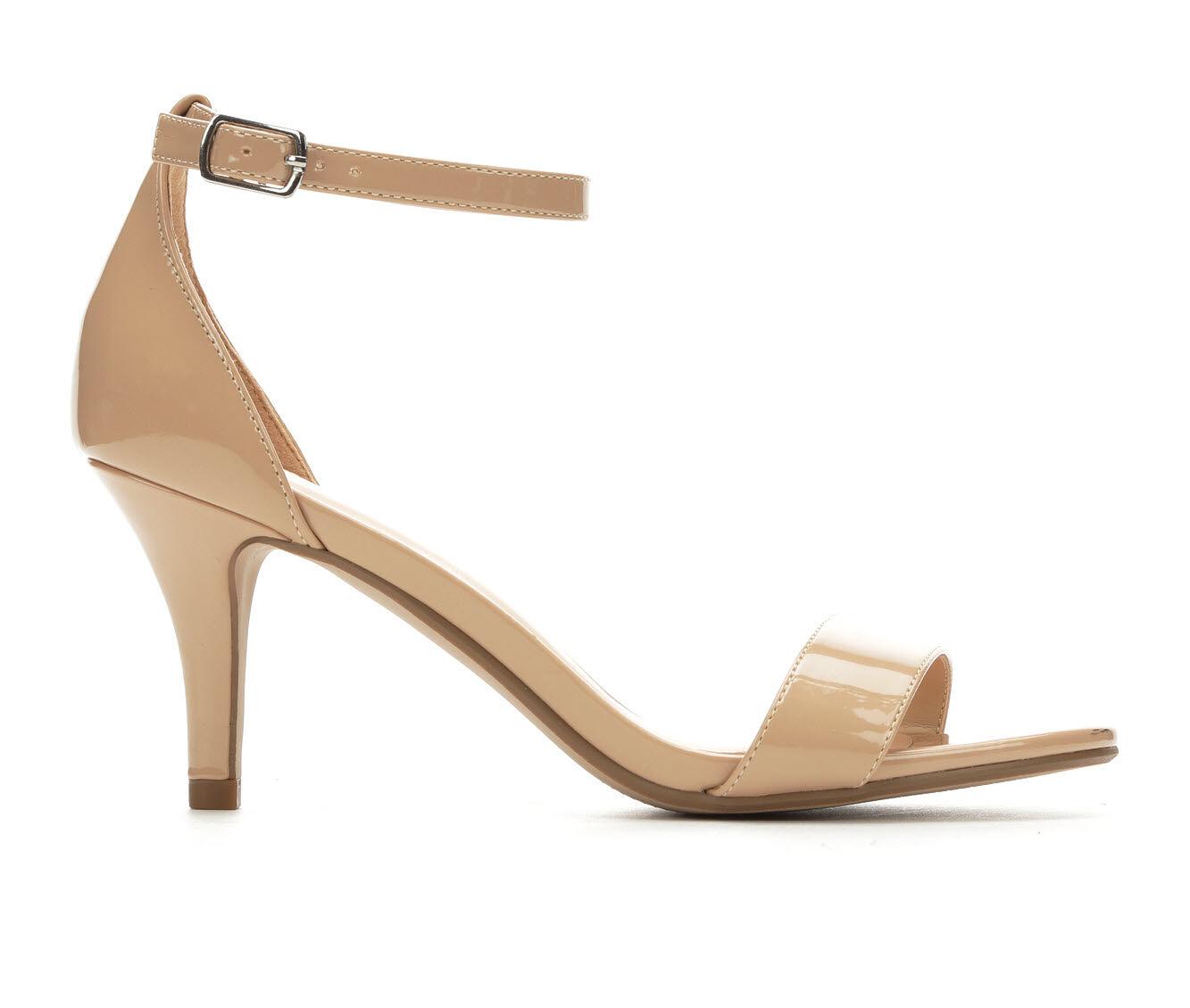 100% Quality Women's Solanz Hayleigh Heeled Sandals Dk Beige Mirror