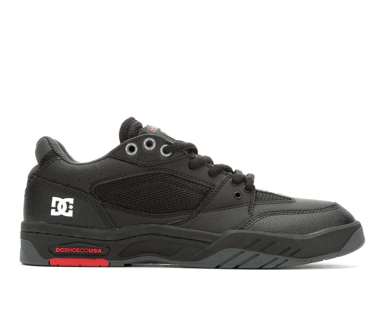 original brand Men's DC Maswell Skate Shoes Blk/Wht/Red