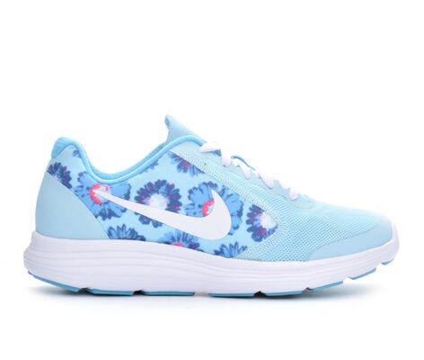 Girls' Nike Revolution 3 Print 3.5-7 Girls Running Shoes