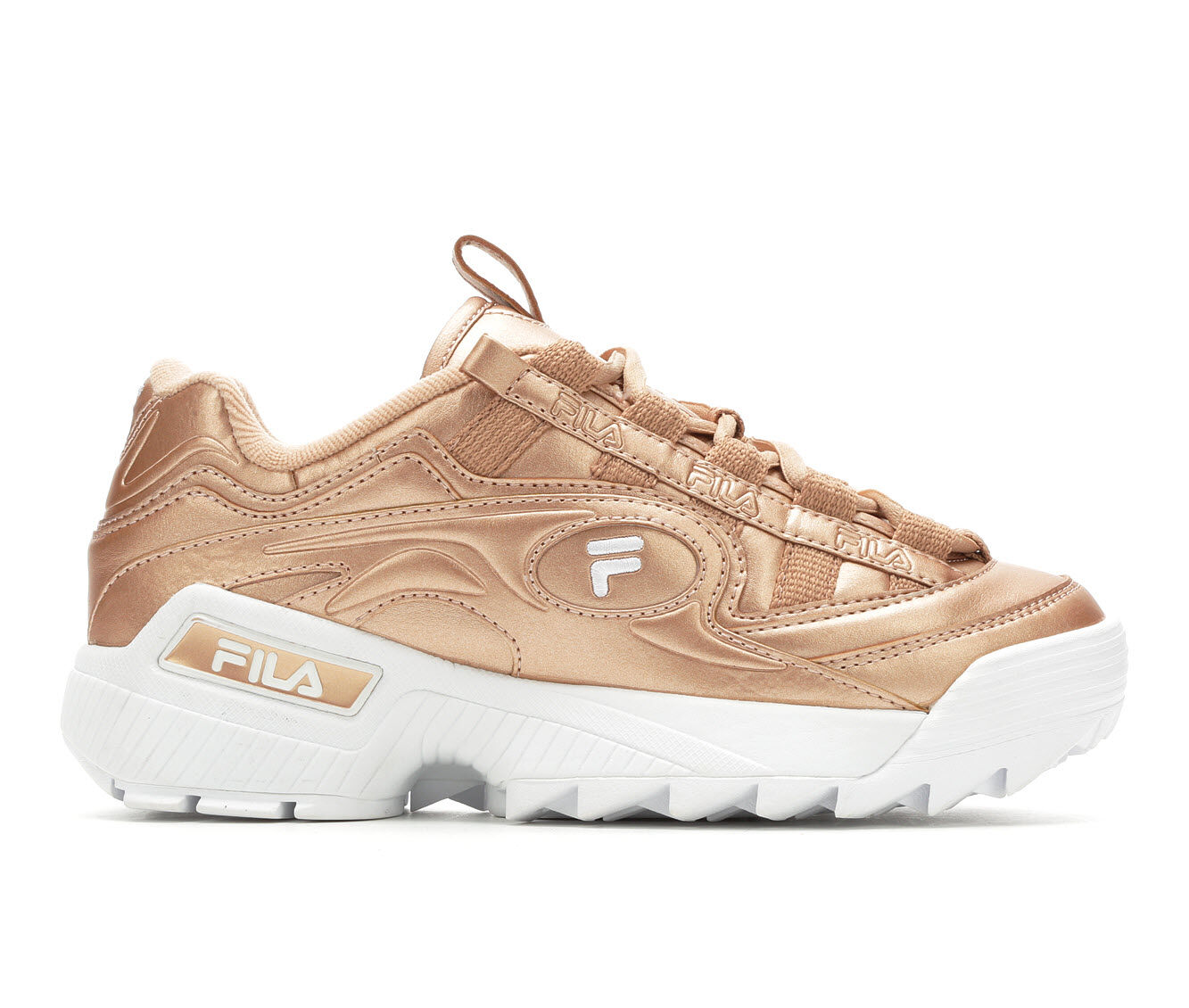 Women's Fila D-Formation Sneakers Rose Gold/White