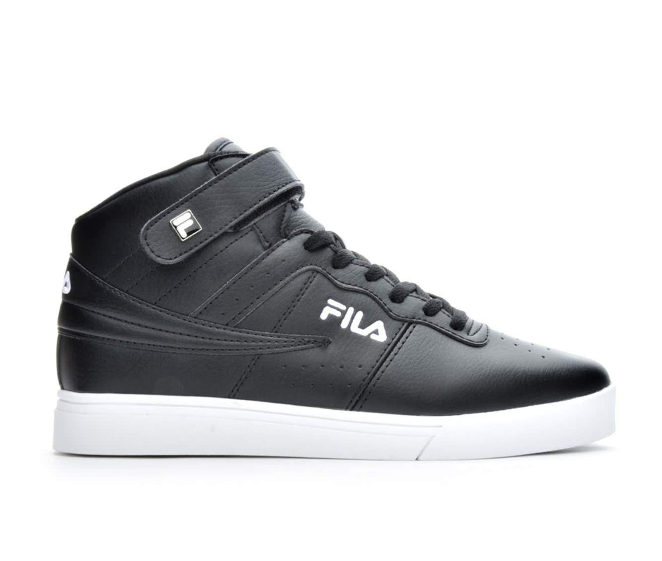 Men's Fila Vulc 13 Mid Plus Retro Sneakers Black/White