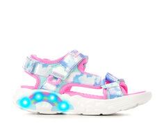 Girls' Skechers Little Kid & Big Kid Rainbow Racer Light-Up Sandals
