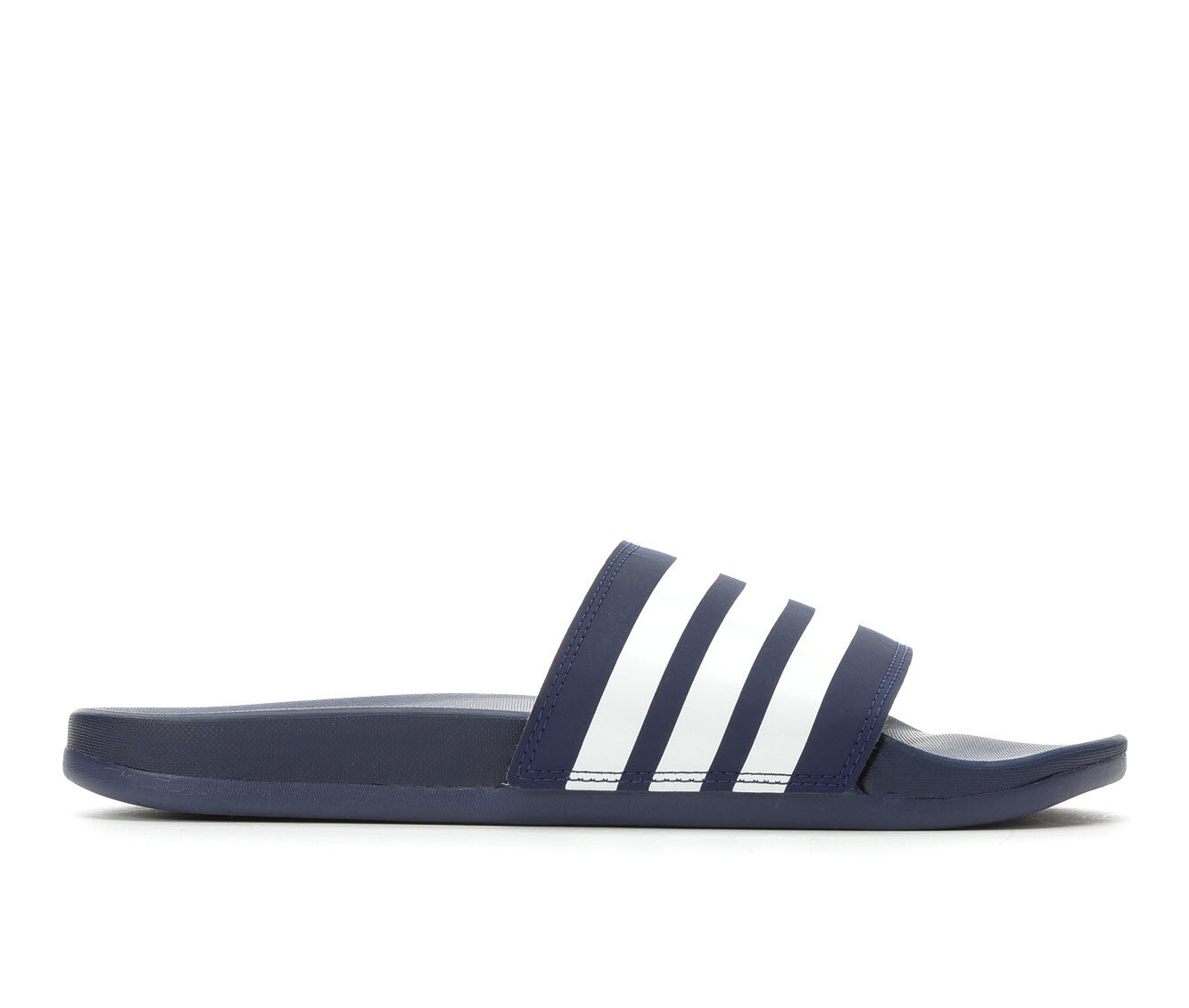 Men's Adidas Adilette Cloudfoam Plus Sport Slides DkBlue/White