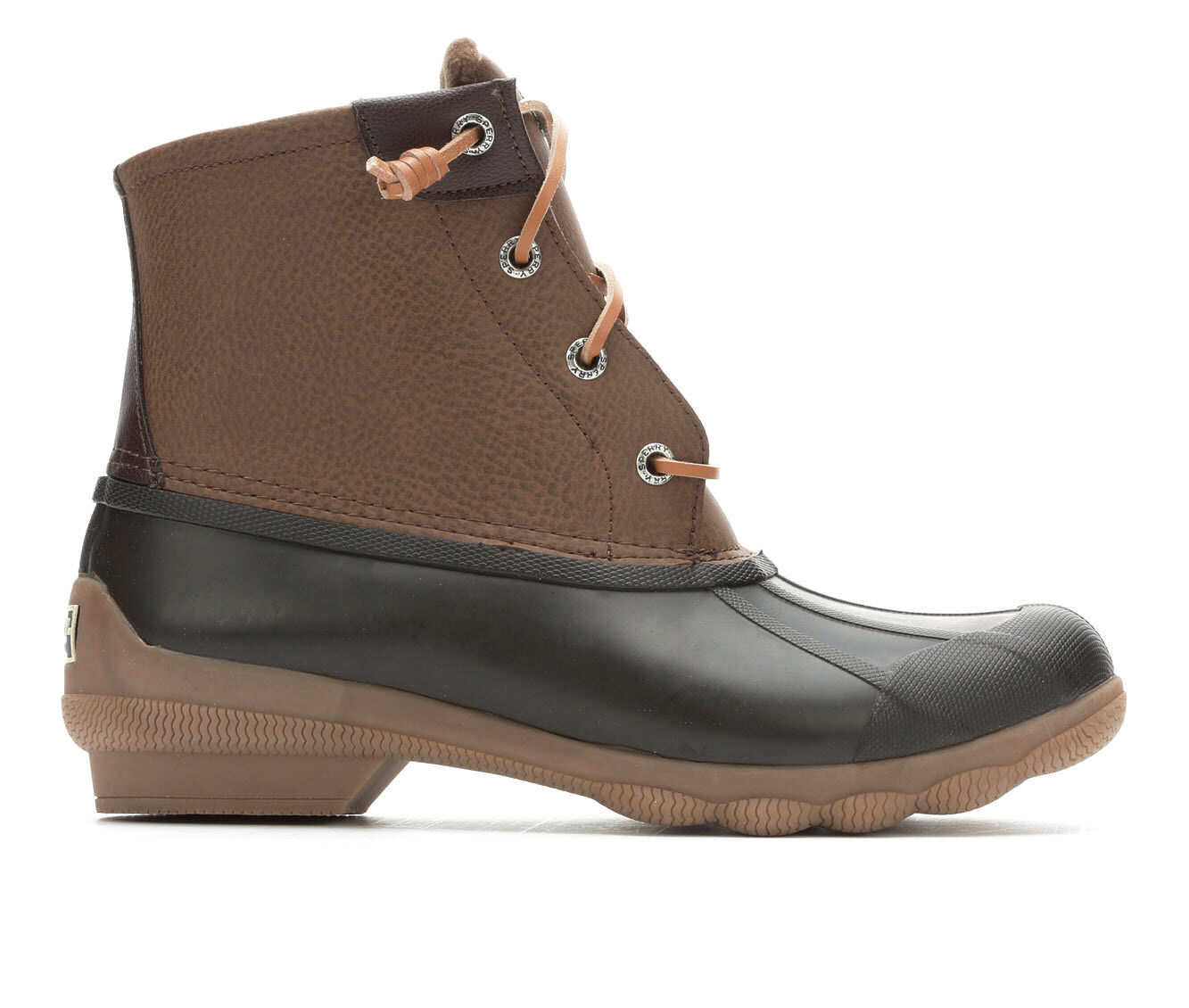 affordable Women's Sperry Syren Gulf Duck Boots Dark Brown/Tan