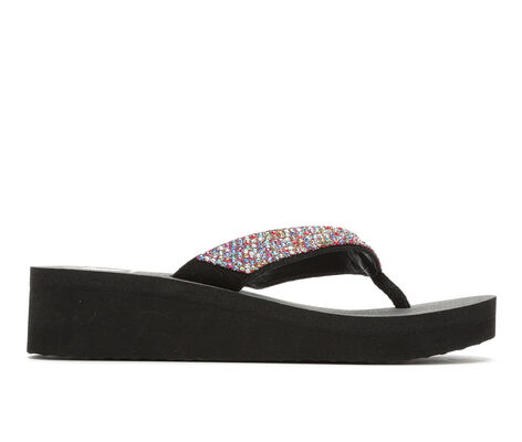 Women's Yellow Box Reti Wedge Flip-Flops