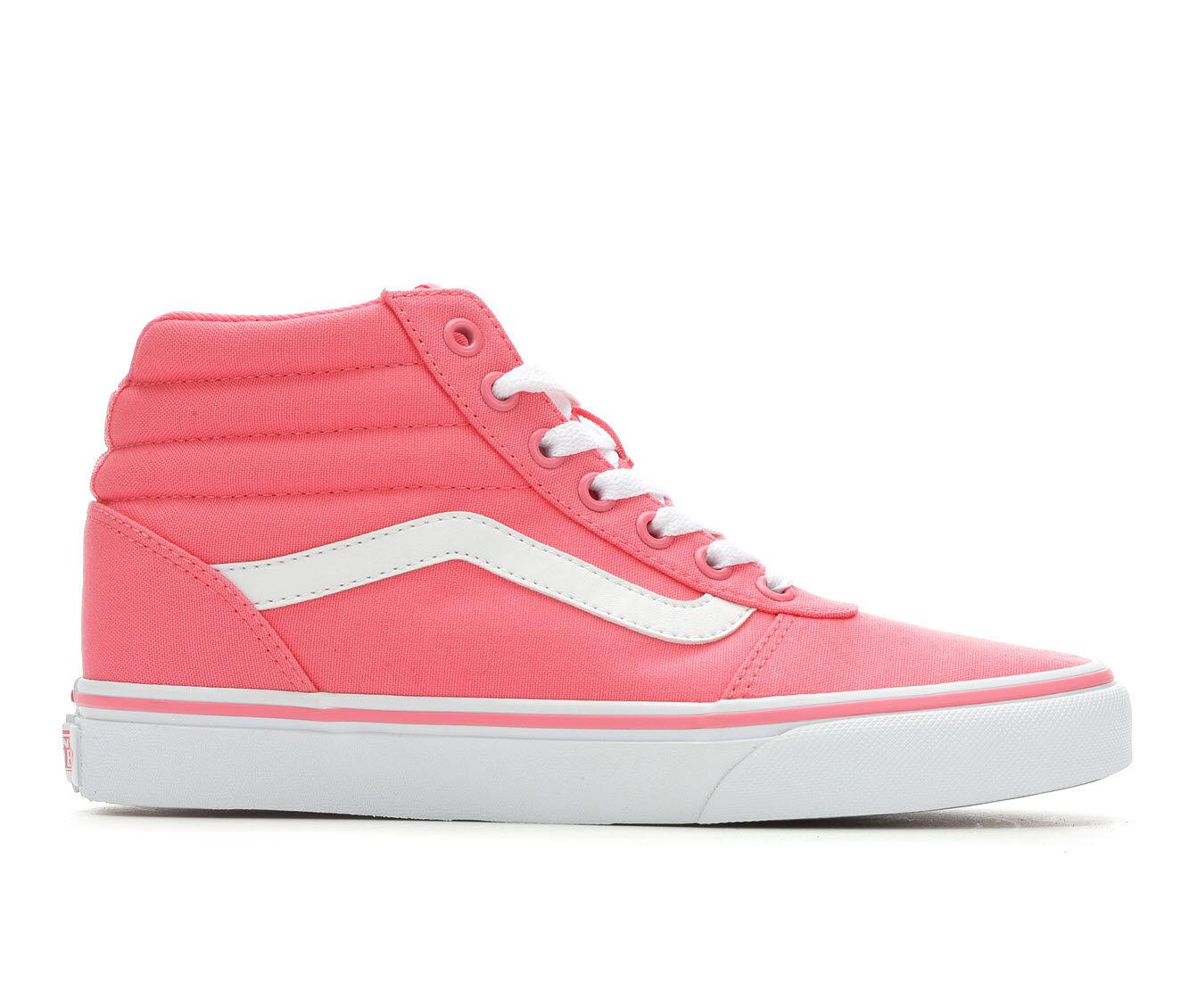 Women's Vans Ward Hi High Top Sneakers Strawberry Pink