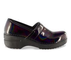 Women's Easy Works by Easy Street Lead Iridescent Slip-Resistant Clogs