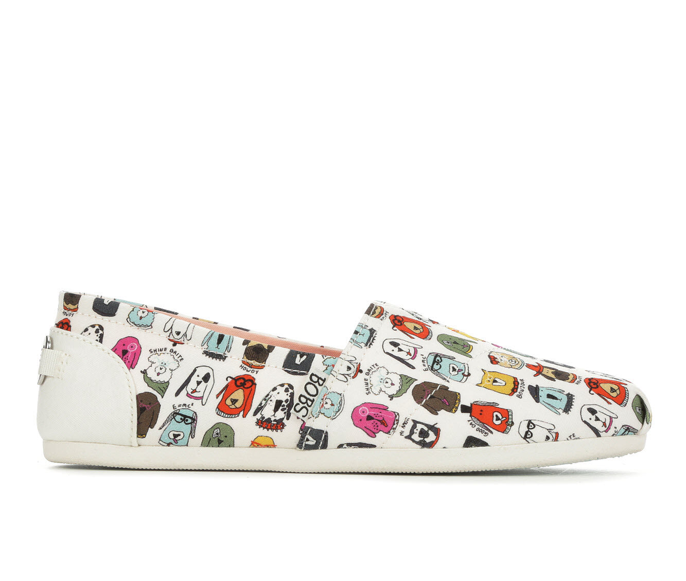Women's BOBS Wag Crew 33179 Canvas Shoes White