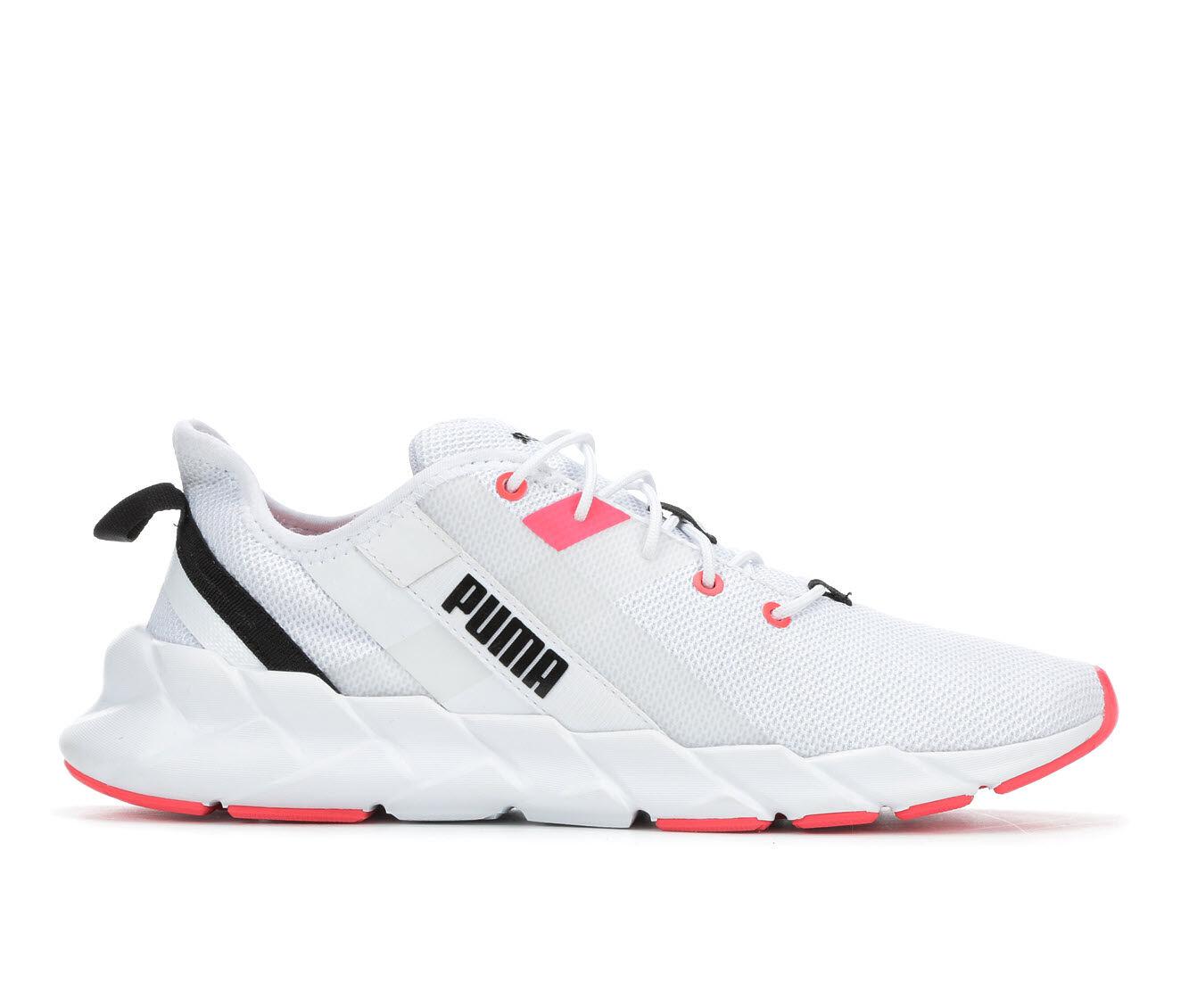 Women's Puma Weave XT Sneakers White/Pink/Blk