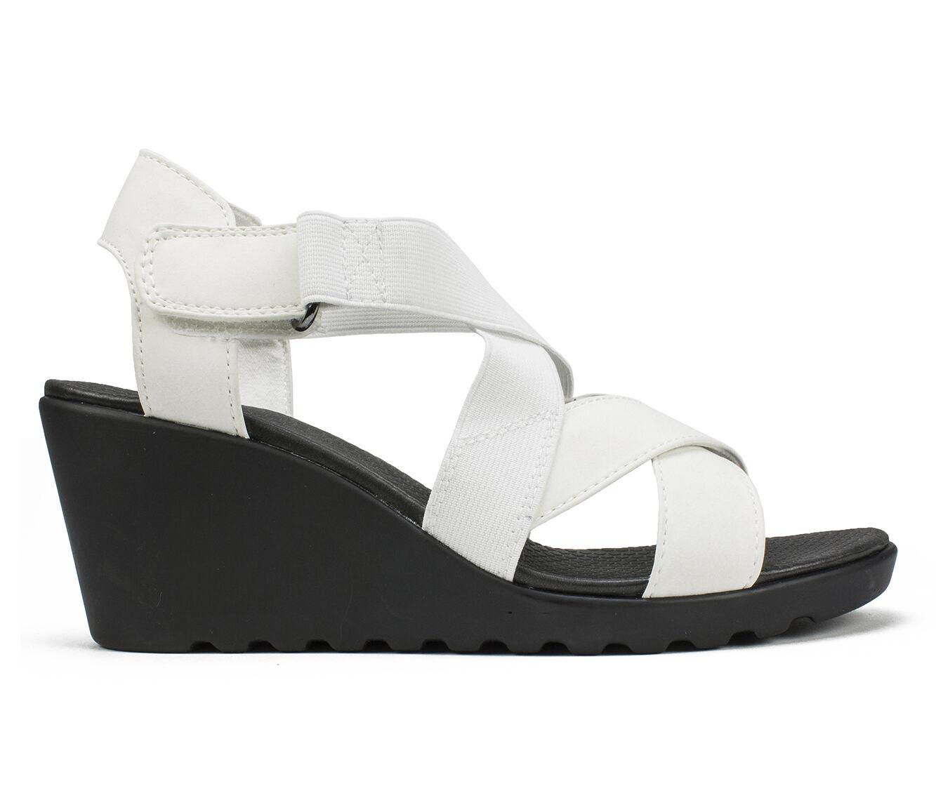 Women's Cliffs Esther Strappy Wedge Sandals White