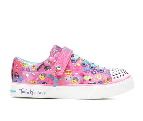 Girls' Skechers Twinkle Breeze 2.0 Character Cutie 10/-4 Light-Up Sneakers