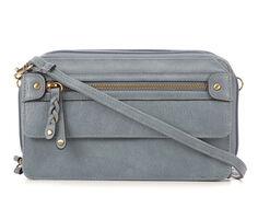 Bueno Of California Gardena PVC Wallet On a String Crossbody Bag