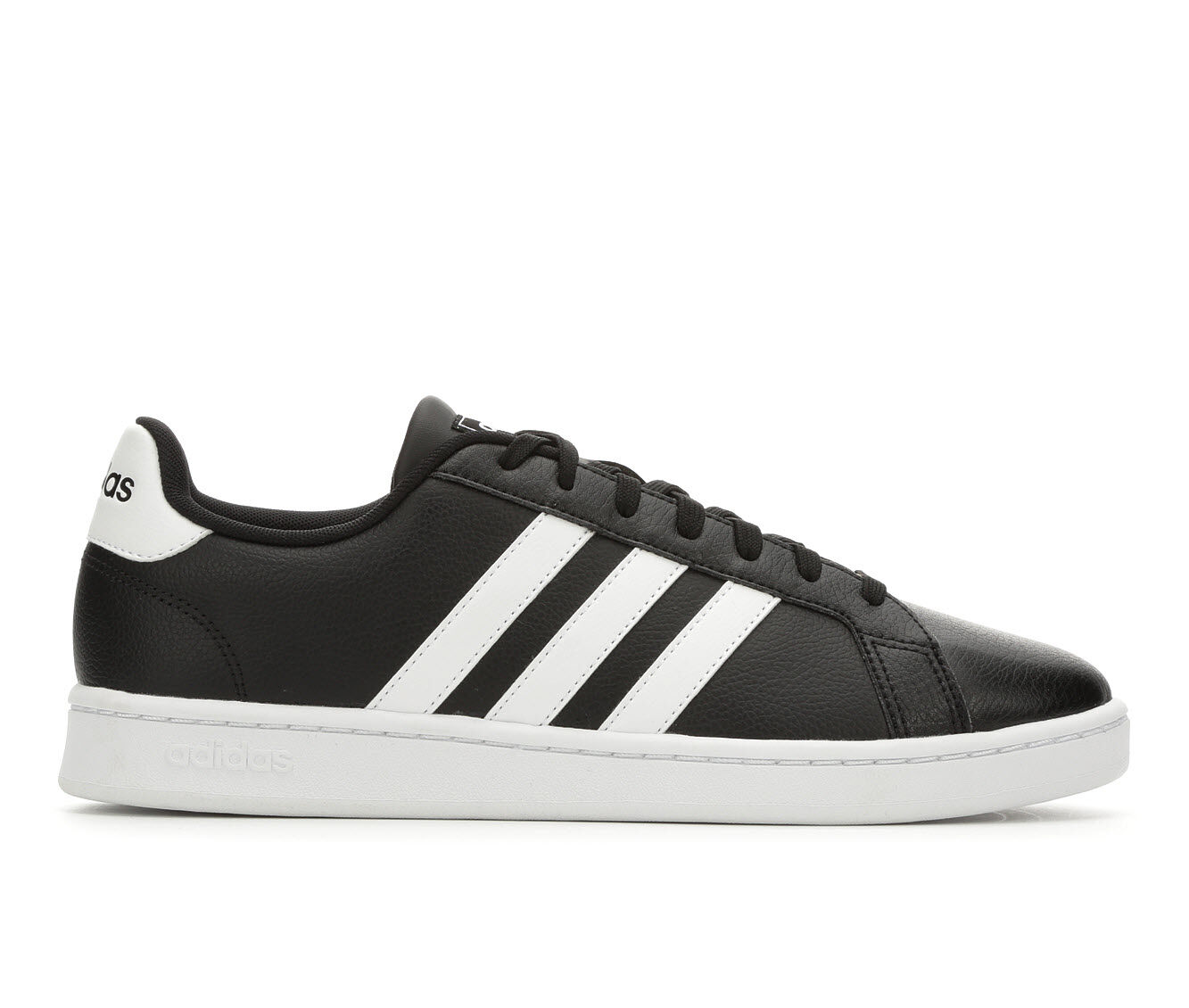 Men's Adidas Grand Court Retro Sneakers Blk/Wht