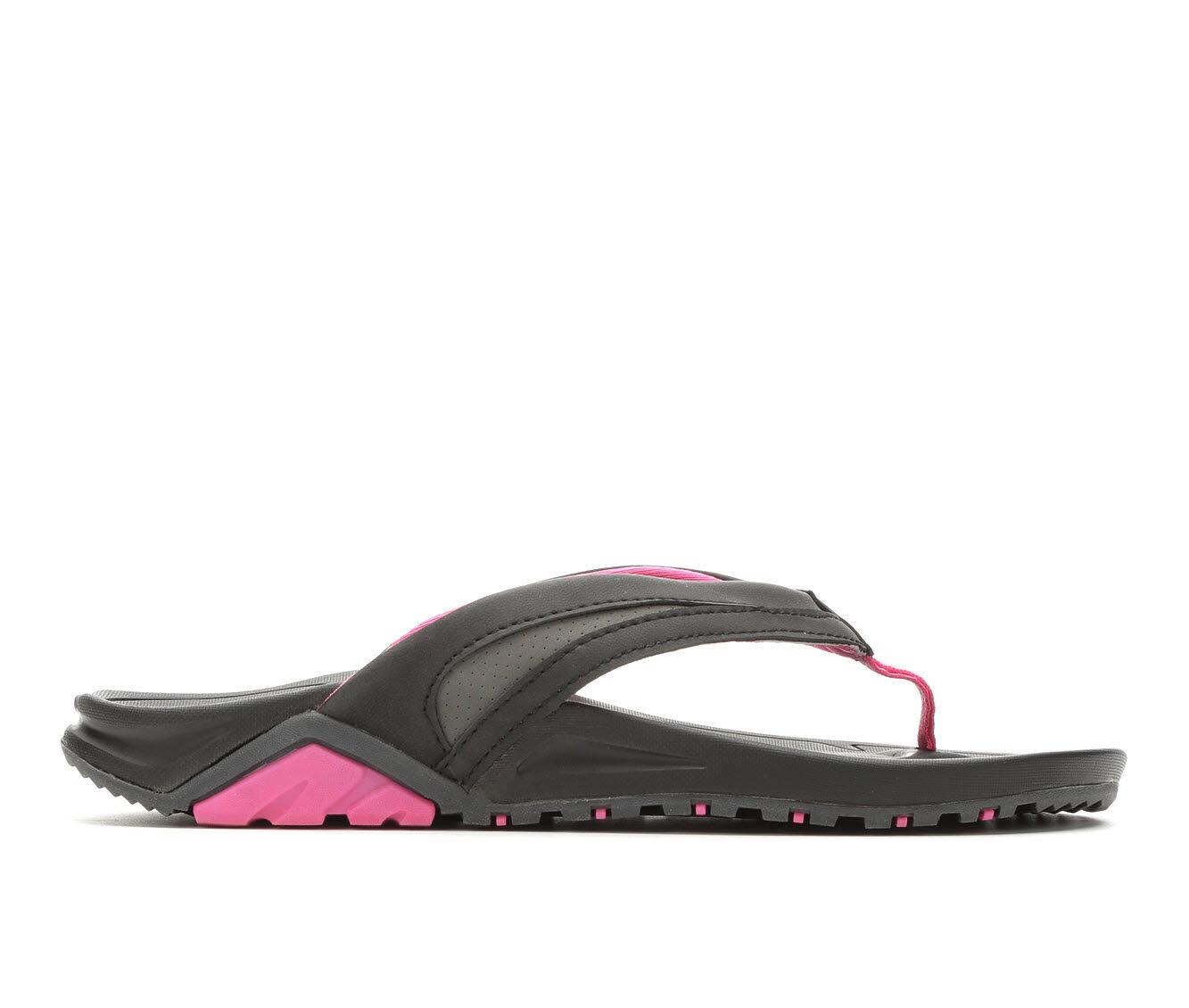 Women's Body Glove Sway Flip-Flops Black/Flamingo