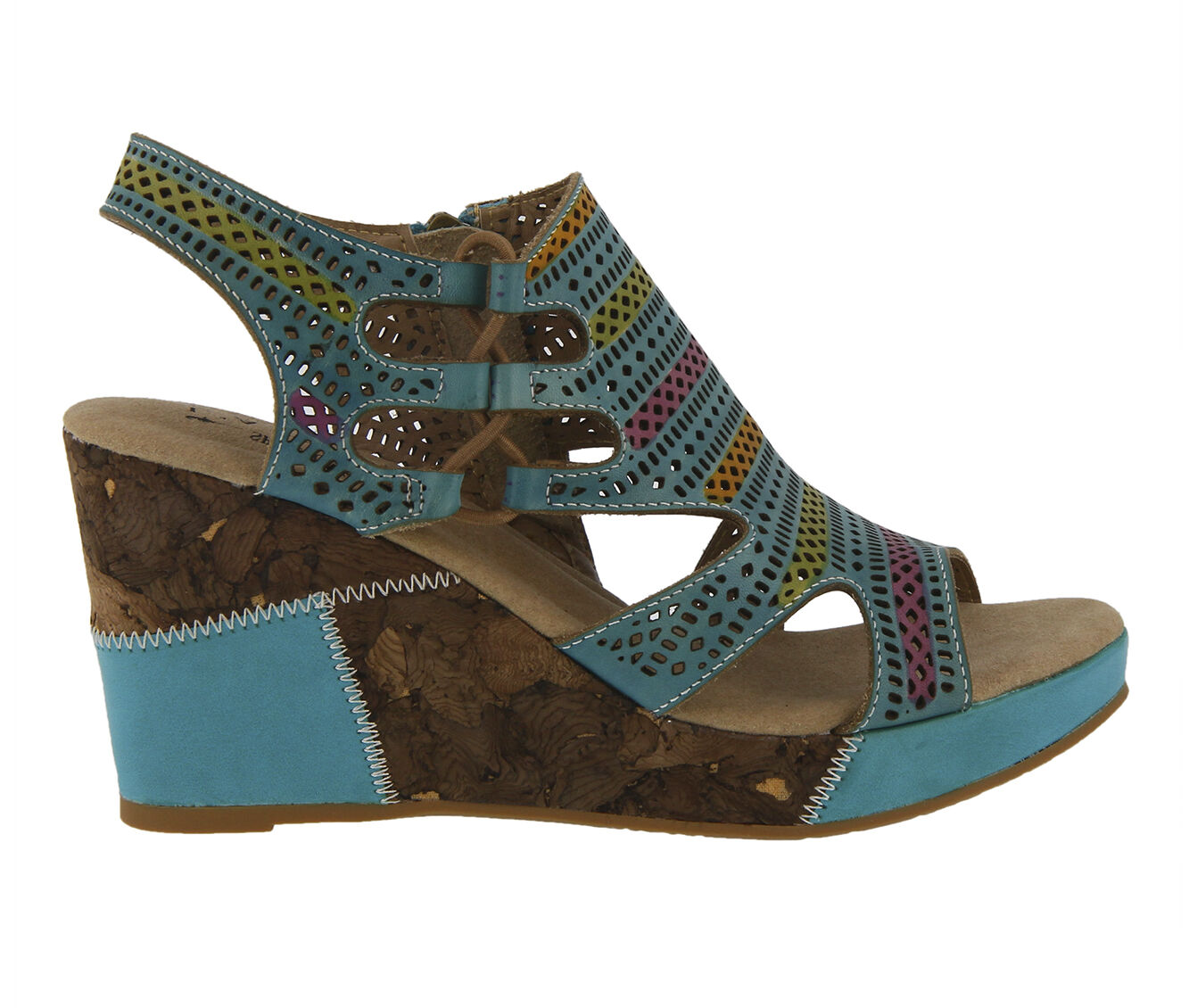 Affordable Women's L'ARTISTE Irvana Wedges Turquoise