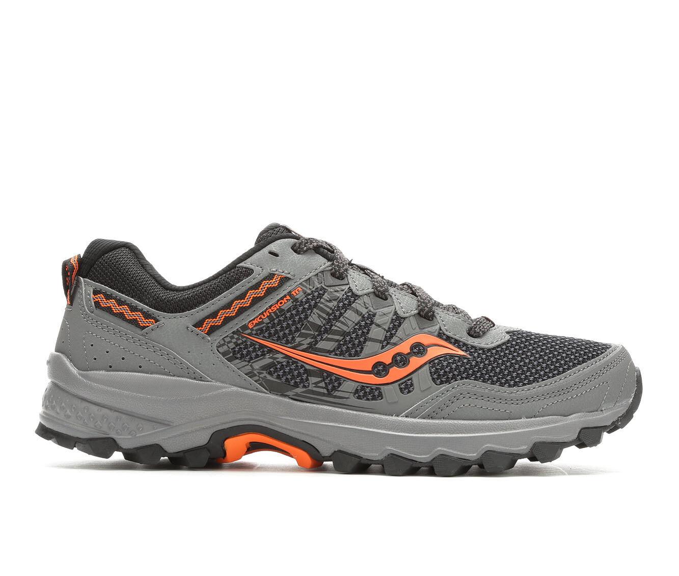 Men's Saucony Excursion TR12 Trail Running Shoes Grey/Orange
