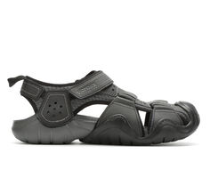 Men's Crocs Swiftwater Leather Fisherman Hiking Sandals