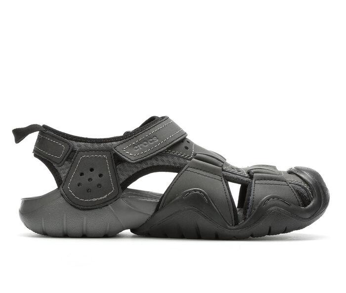 Men's Crocs Swiftwater Leather Fisherman Hiking Sandals