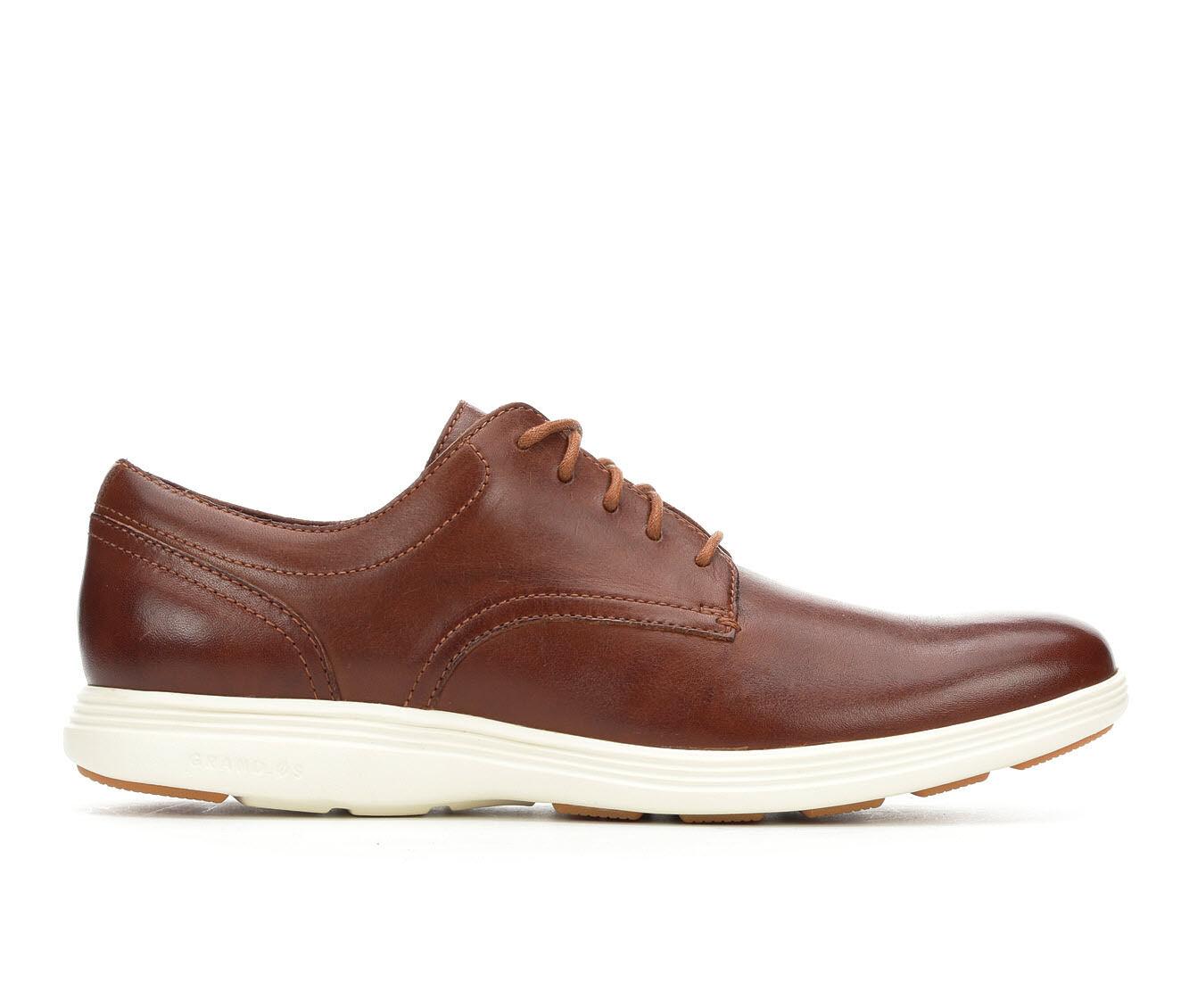 Men's Cole Haan Grand Tour Plain Toe Oxford Dress Shoes Woodbury/Ivory