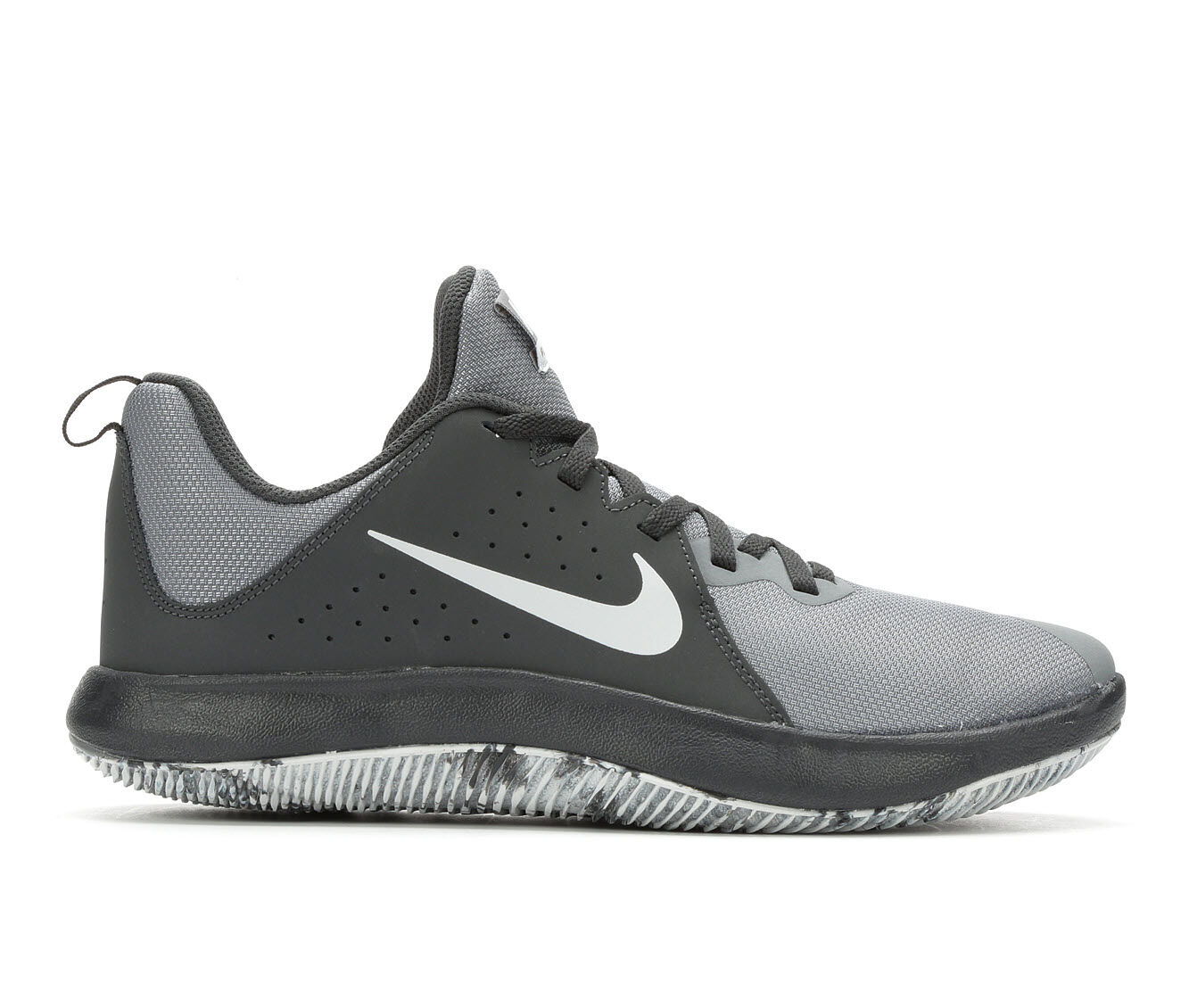 Men's Nike Fly By Low NBK Basketball Shoes Grey/Blk/Wt 003